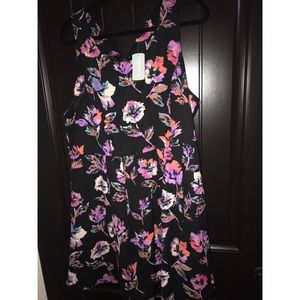 Forever 21 Plus Short Black/Purple Dress